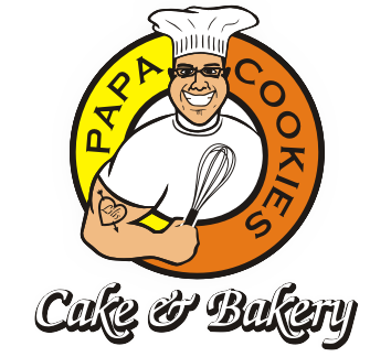 Logo Papa Cookies Cake and Bakery